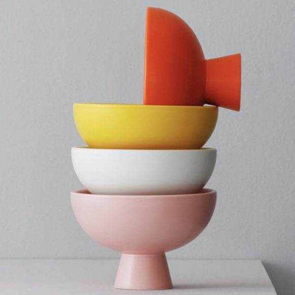 stack of four small strøm raawii catchall bowls