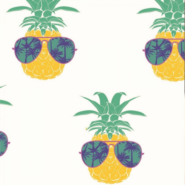 Pineapple Face Print