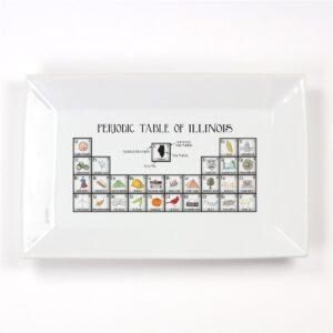 Periodic Table of Illinois Platter