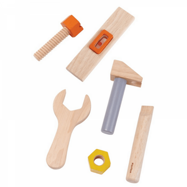 PlanToys tools from tool belt