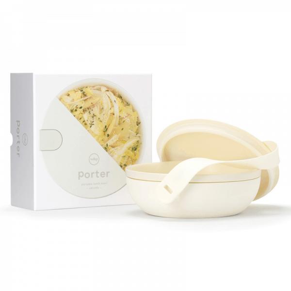 W & P Porter cream premium ceramic bowl opened with packaging