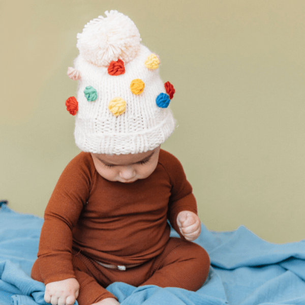 Rainbow Dot Beanie on Baby