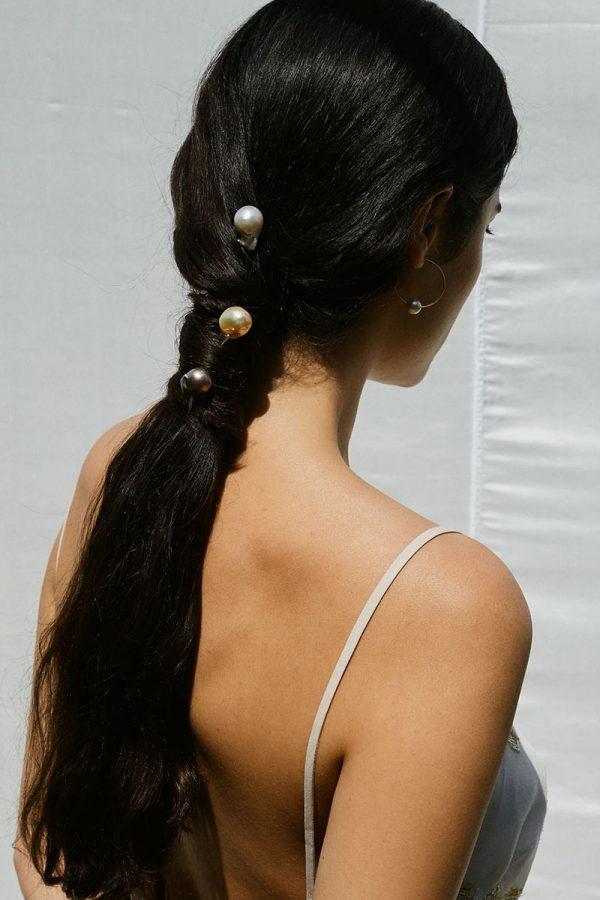 Chan Luu Hair Pins on Model