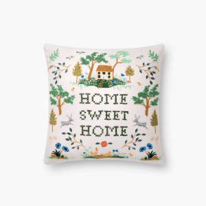 Rifle Paper Co Home Embroidered Pillow