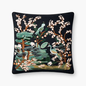 Rifle Paper Co Kyoto Garden Embroidered Pillow