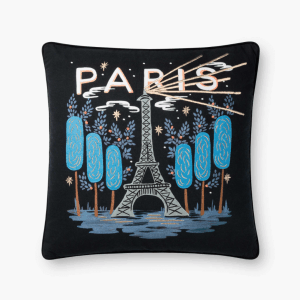 Rifle Paper Co Paris Embroidered Pillow