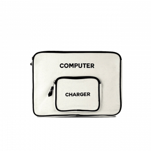 Large Computer Storage Bag Cream