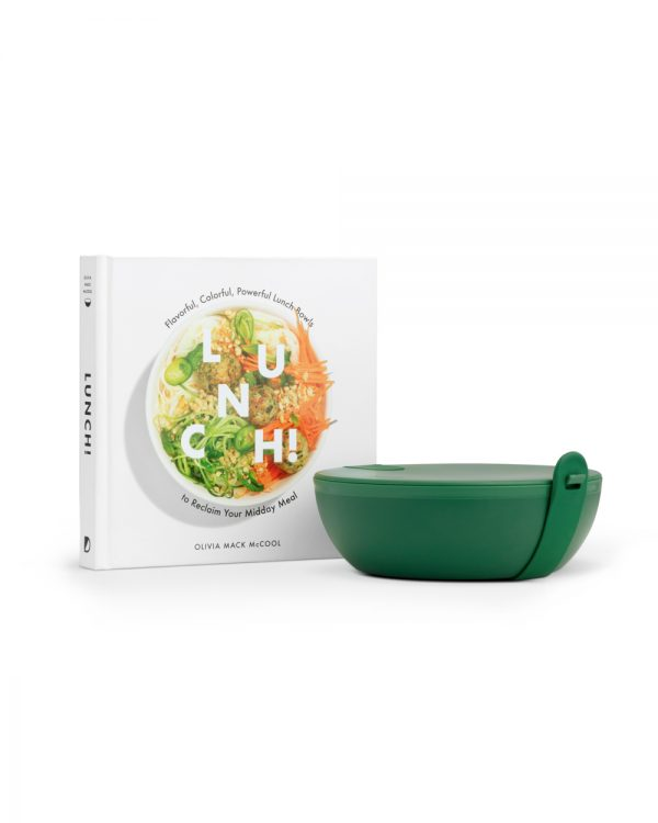 Green Plastic Porter Bowl with Lunch Book