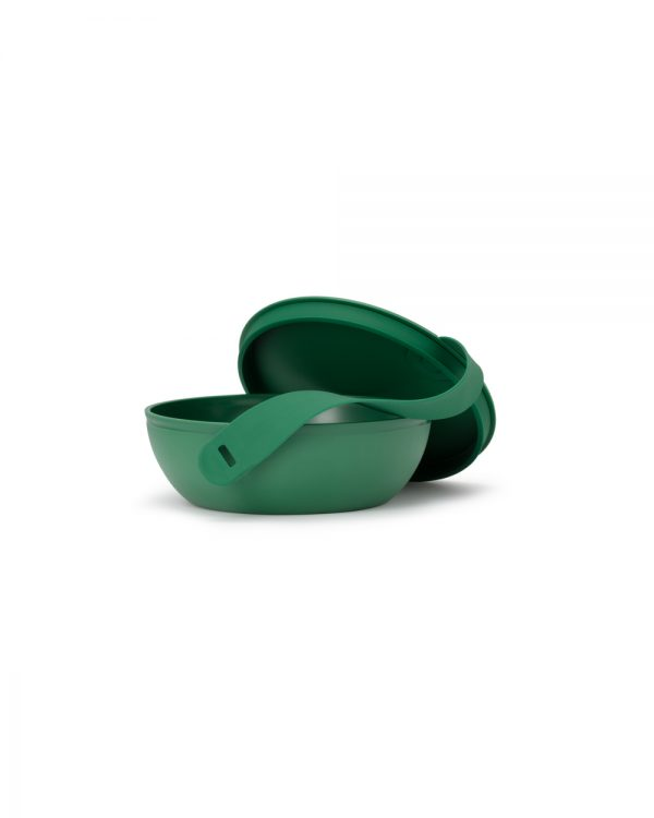Green Plastic Porter Bowl Open with Lid