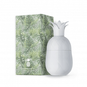 White Pineapple Cocktail Shaker with Packaging