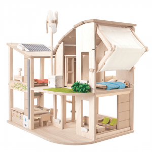 PlanToys Green Dollhouse With Furniture