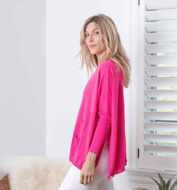 Pink Catalina Travel Sweater Side