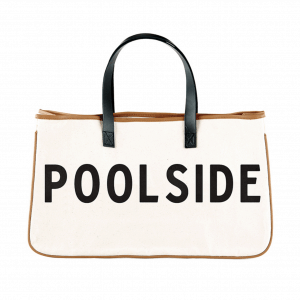 Pool Side Canvas Tote