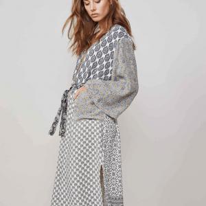 Printed Kimono Dress Side