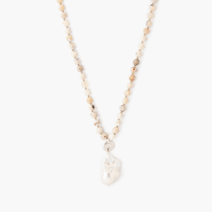 Multi Brioche Agate Beaded Long Necklace by Chan Luu Detail