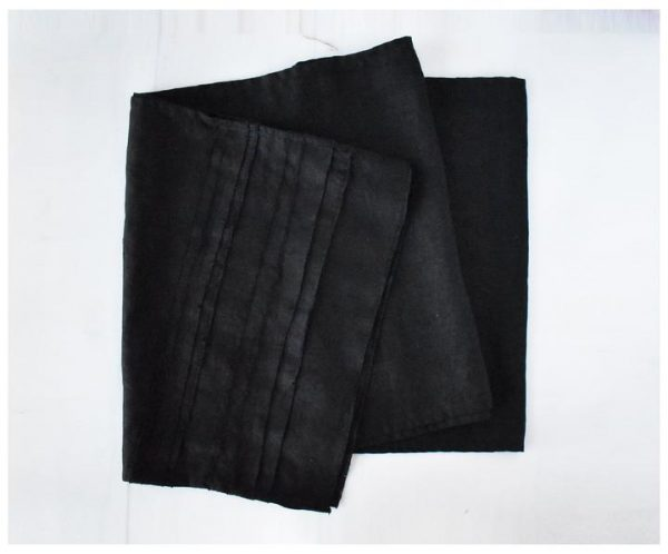 Black Linen Table Runner