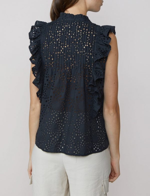 Blouse with Embroidery by Summum Woman back