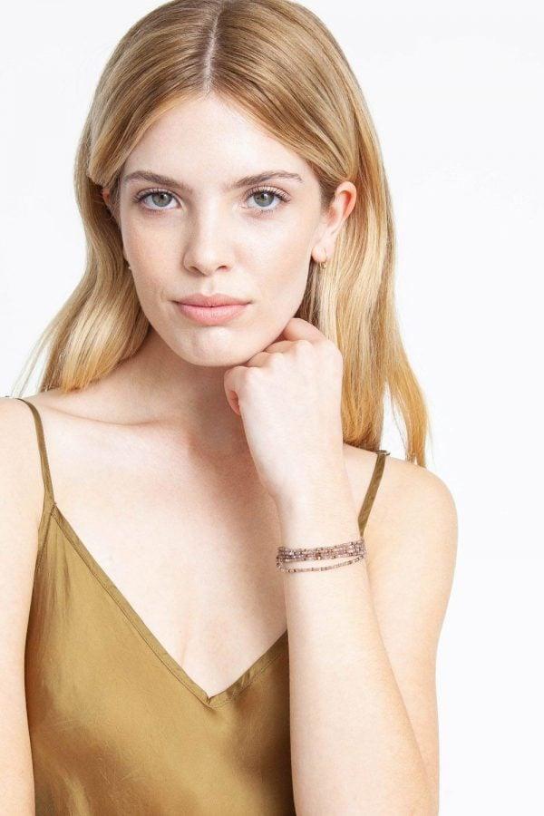 Bronze Mix Naked Wrap Bracelet on model