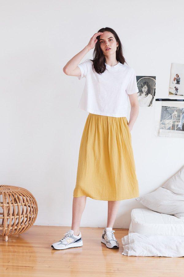 Cotton Gauze Skirt by Velvet by Graham & Spencer 2