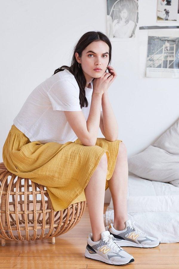 Cotton Gauze Skirt by Velvet by Graham & Spencer