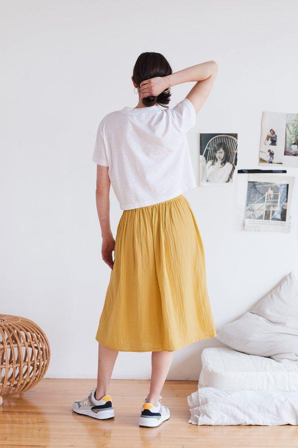 Cotton Gauze Skirt by Velvet by Graham & Spencer Back