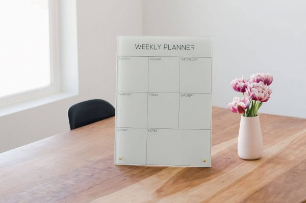 Glass Magnetic Weekly Planner