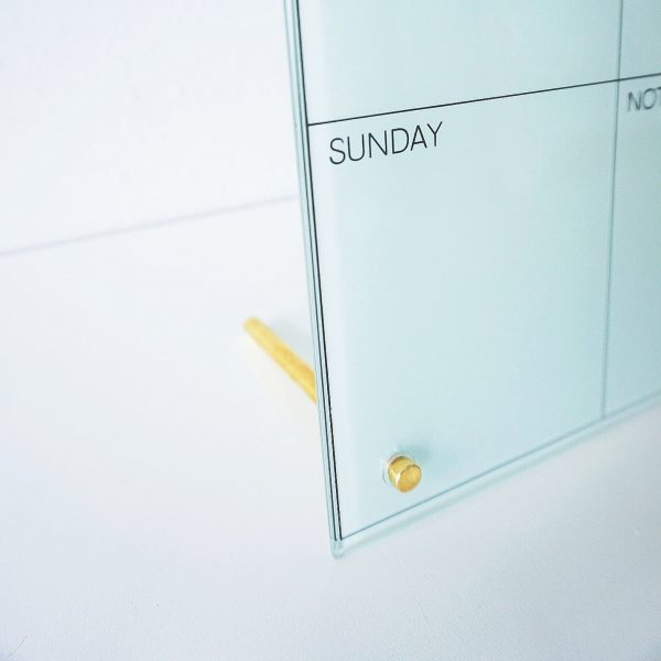 Glass Magnetic Weekly Planner Detail