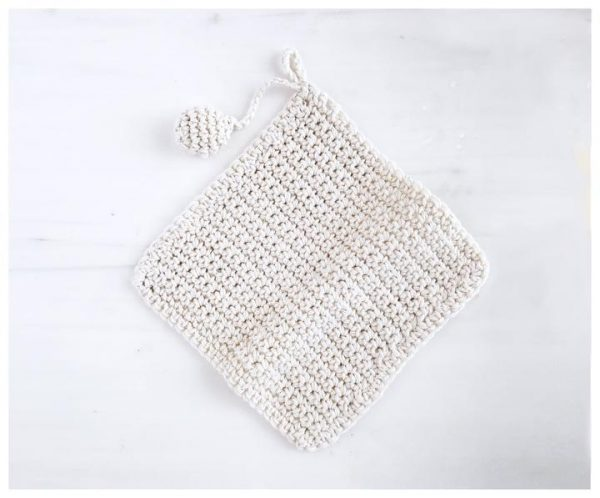 Hand Knit Pot Holder 1