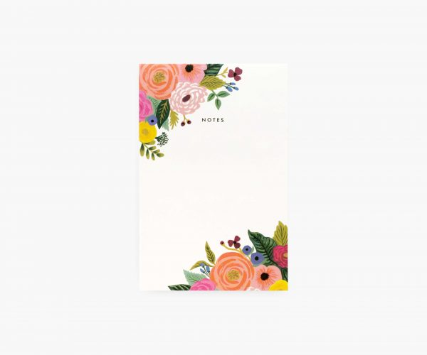 Juliet Rose Blank Notepad by Rifle Paper Co