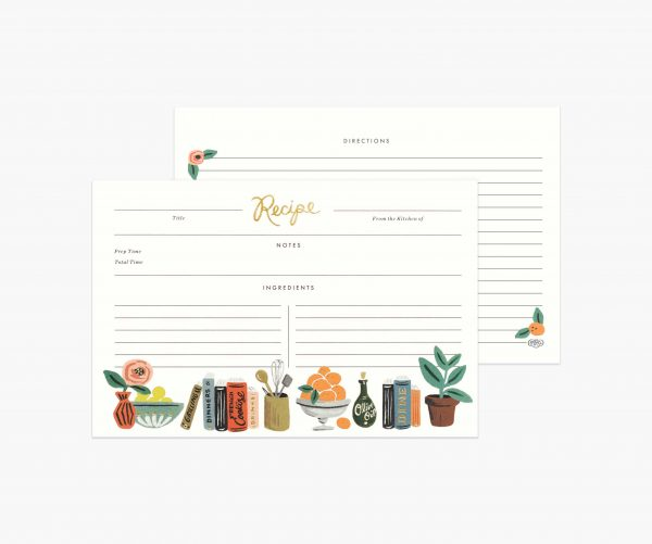 Kitchen Shelf Recipe Cards by Rifle Paper Co 1