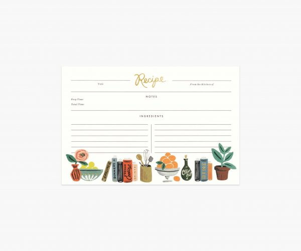 Kitchen Shelf Recipe Cards by Rifle Paper Co