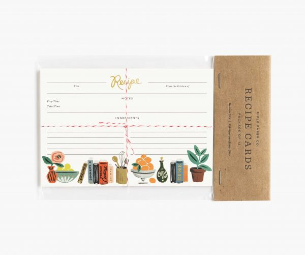 Kitchen Shelf Recipe Cards by Rifle Paper Co Packaged