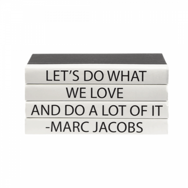 Marc Jacobs book stack