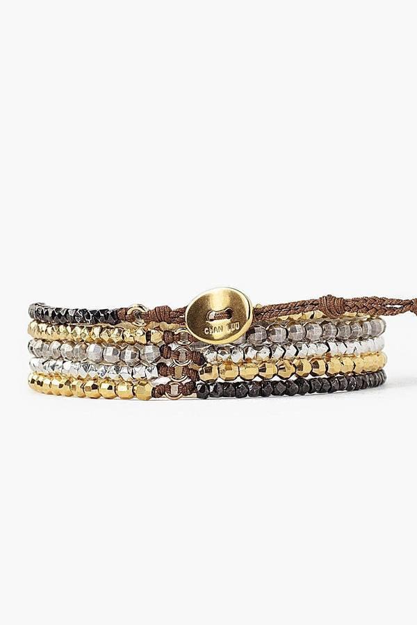 Multi Mix Naked Wrap Bracelet by Chan Luu Back