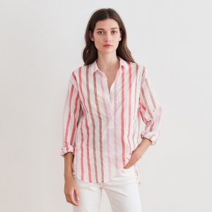 Ombre Stripe Button Down Shirt by Velvet by Graham & Spencer