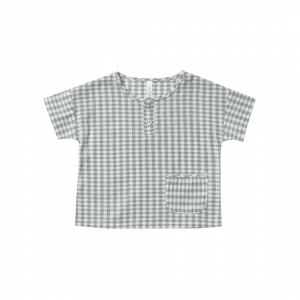 Rylee and Cru Gingham Woven Henley