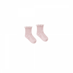 Rylee and Cru Lace Trim Socks - Lilac