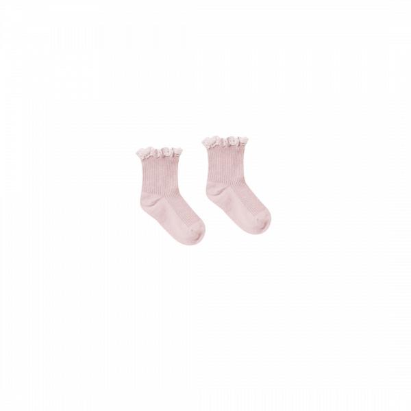 Rylee and Cru Lace Trim Socks - Lilac