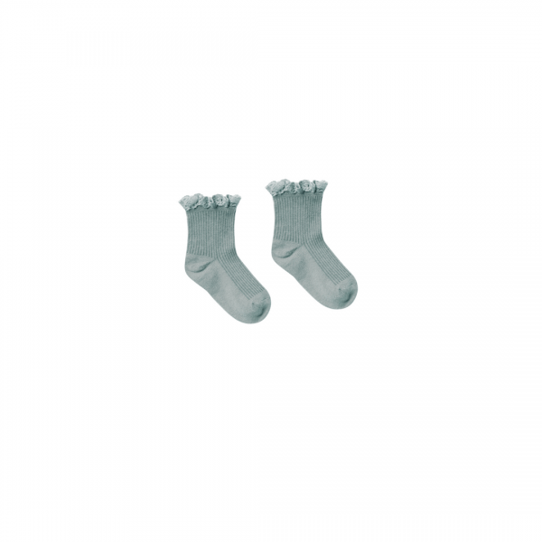 Rylee and Cru Lace Trim Socks - Sea