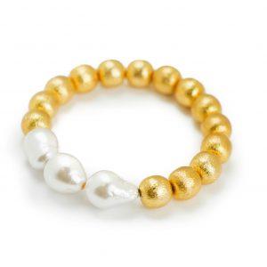 Tres Bracelet, White Baroque