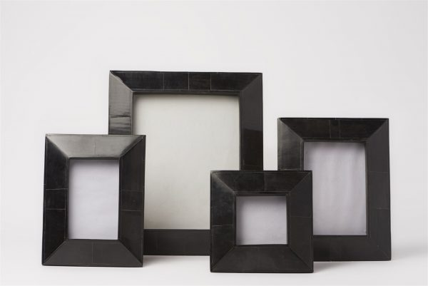 Wide Black Horn Picture Frames