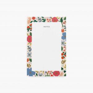 Wild Rose Blank Notepad