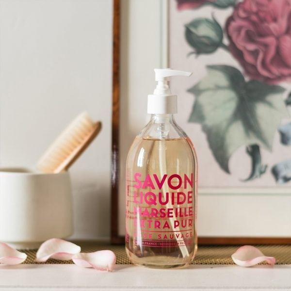 Wild Rose Liquid Marseille Soap Editorial