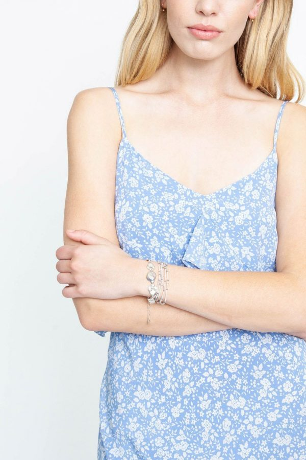 grey mix naked wrap bracelet