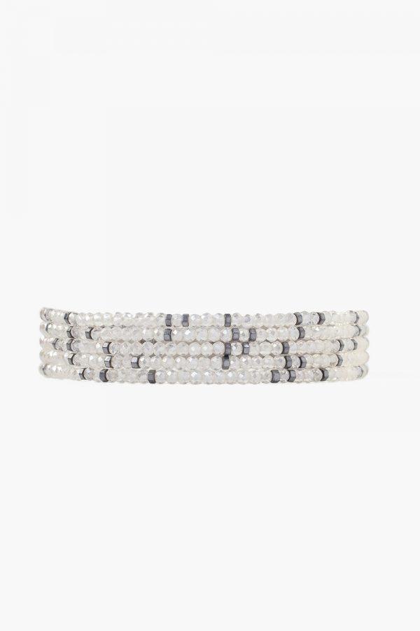 grey mix beaded chan luu bracelet