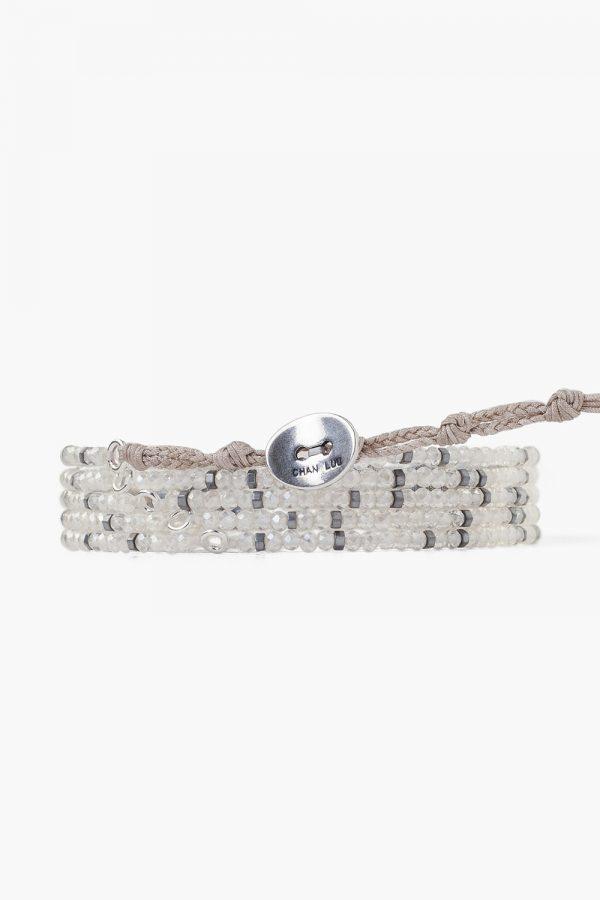 grey mix beaded chan luu bracelet back