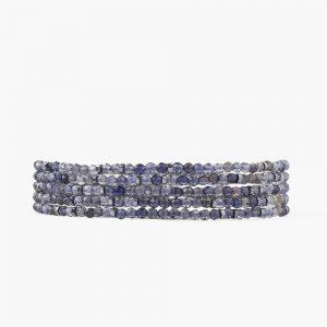 Iolite Mix Naked Wrap Bracelet by Chan Luu