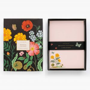 rifle paper co botanical social stationary set