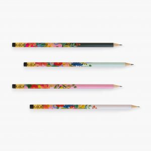 rifle paper co garden party pencil set 4