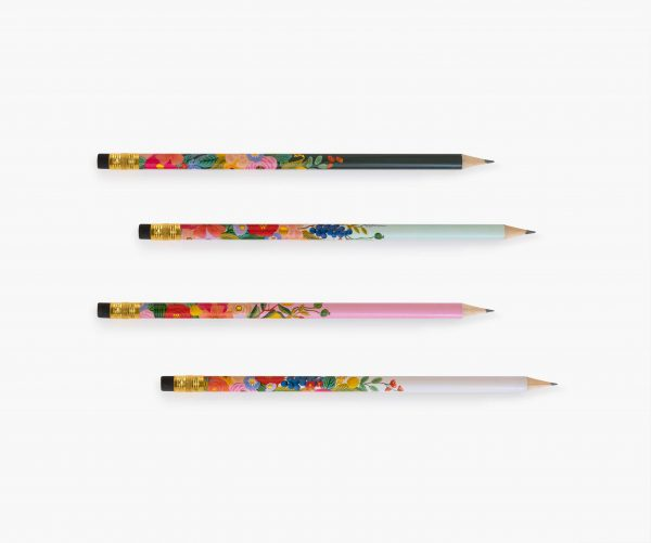 rifle paper co garden party pencil set 4